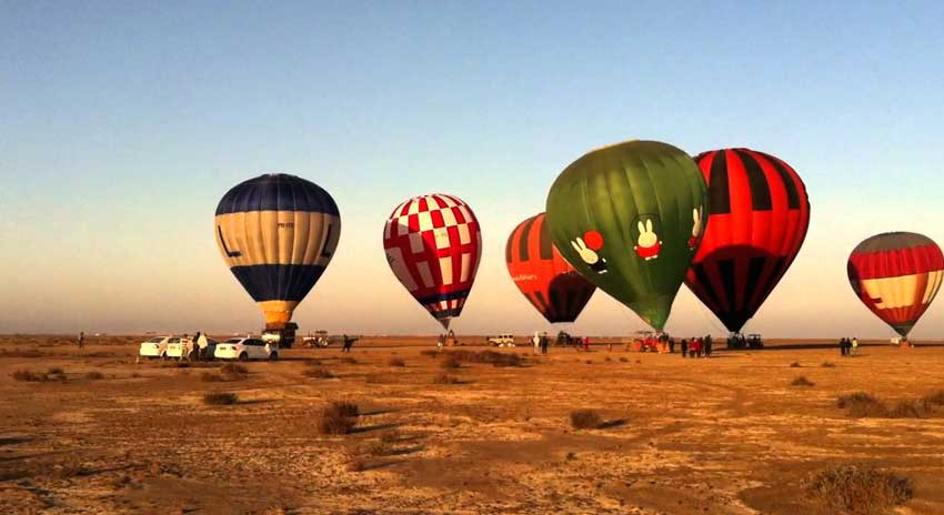 Rann Kutch Utsav hot air balloon