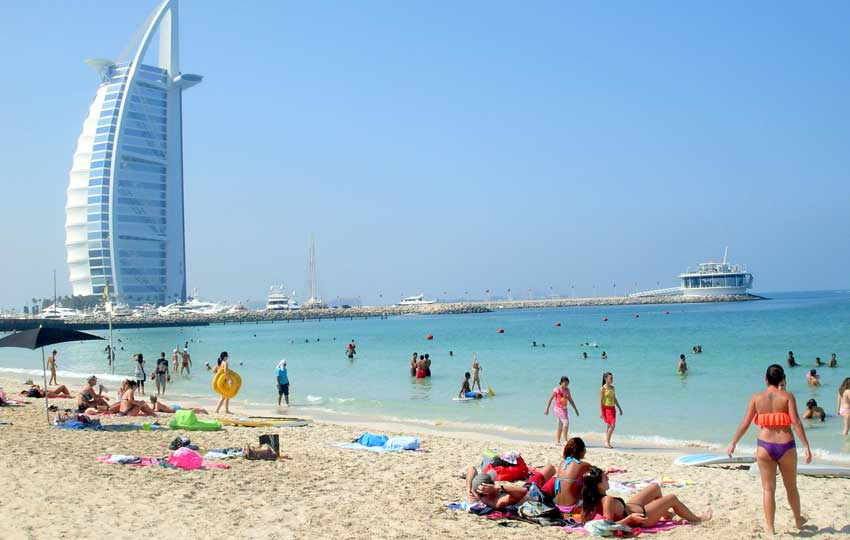 beaches dubai