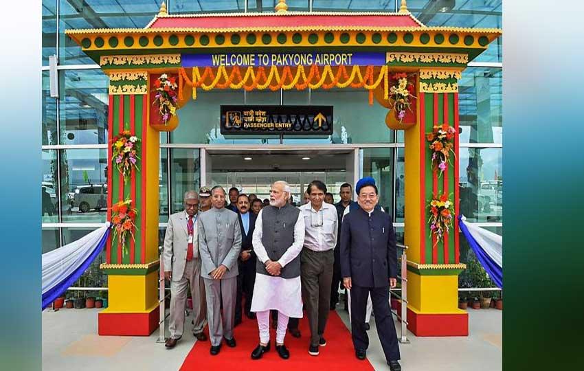 PM Narendra Modi inaugurated Sikkim Airport