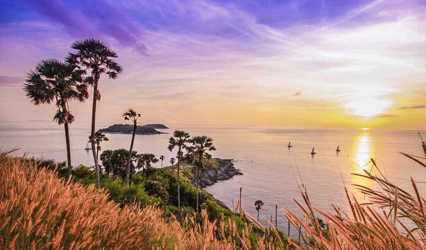 Sunset view of promthep cape viewpoint phuket