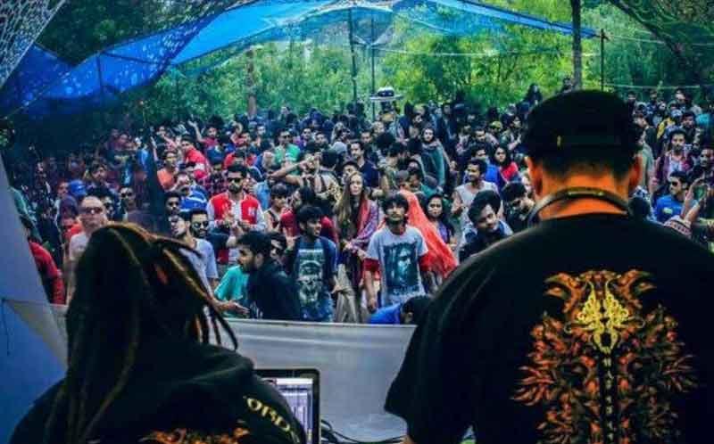 Psytrance festival in Kasol