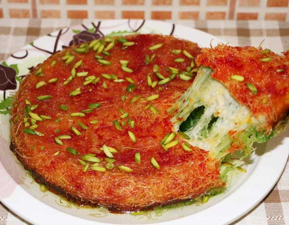 Some Knafeh could be welcomed at any time