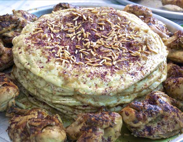 Try the palestinian bread in the form of Taboon Bread